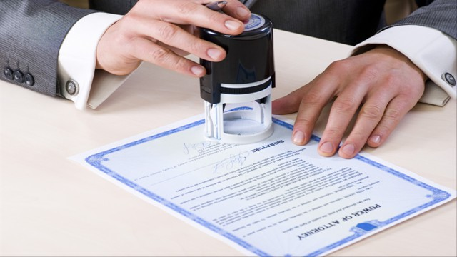 Need your signature or a document notarized